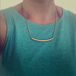 J.Crew new gold shine bar necklace